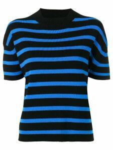 Barrie cashmere short sleeve top - Black