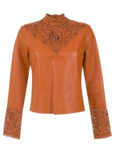 Nk leather top - Brown