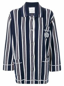 Barrie striped knitted cardigan - Blue