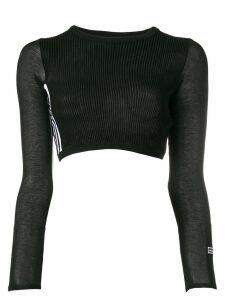 Adidas ribbed cropped jumper - Black
