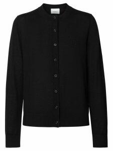Burberry Monogram Motif Cashmere Cardigan - Black