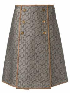 Gucci GG pattern a-line skirt - Brown