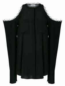 Sonia Rykiel oversized cold shoulder blouse - Black