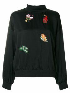 Vivetta embellished sweatshirt - Black