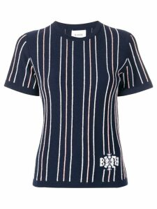 Barrie cashmere striped top - Blue