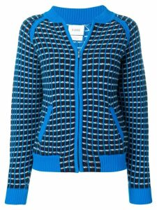 Barrie cashmere waffle-effect cardigan - Blue