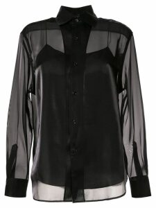 Ralph Lauren Collection satin structured shirt - Black