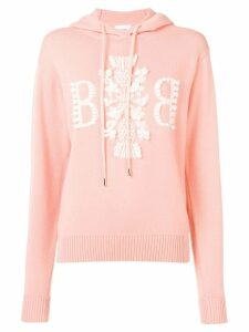 Barrie 3D logo hooded jumper - Pink