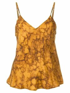 Mes Demoiselles marbled effect slip top - Brown
