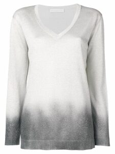 Fabiana Filippi lamé V-neck sweater - Silver