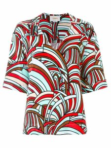 La Doublej Onde terry T-shirt - Multicolour