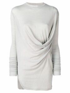 Rick Owens draped tunic top - Grey