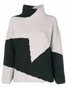 Lorena Antoniazzi two-tone knit jumper - Neutrals