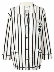 Barrie cashmere oversized shirt - White