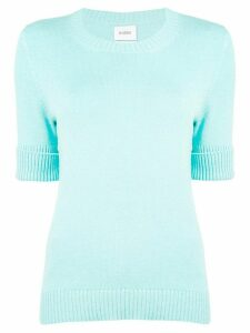 Barrie roll-cuff pullover jumper - Blue