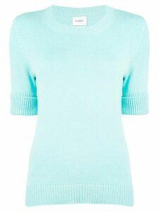 Barrie roll-cuff pullover jumper - Blue