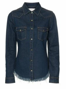 Marques'Almeida raw hem denim shirt - Blue