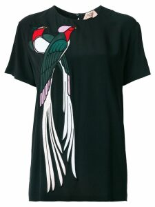 Nº21 bird appliqué blouse - Black