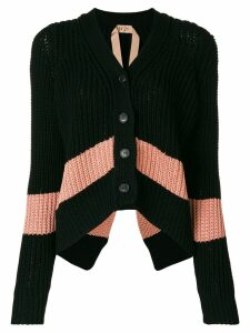 Nº21 slouchy cropped cardigan - Black