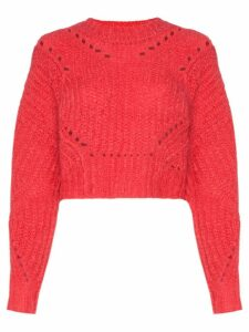 Isabel Marant Iroen cropped mohair-blend jumper - Red