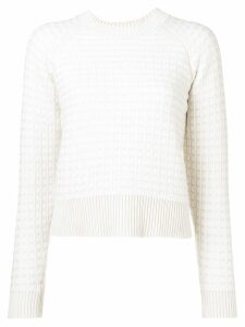 Barrie cashmere waffle-effect sweater - White
