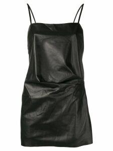 Manokhi square neck mini dress - Black
