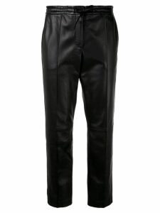 Yves Salomon cropped leather trousers - Black