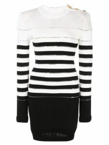 Balmain striped jumper - Black