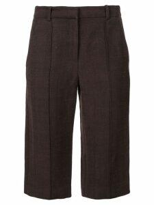 Adam Lippes stretch bermuda shorts - Brown