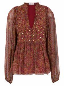 Nk appliqué blouse - Red