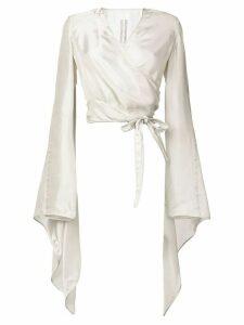 Rick Owens wrap blouse - Neutrals