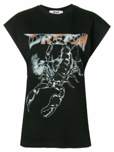 MSGM Dream Scorpion print T-shirt - Black