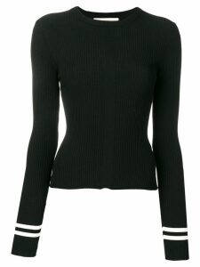 Ssheena long sleeve ribbed jumper - Black
