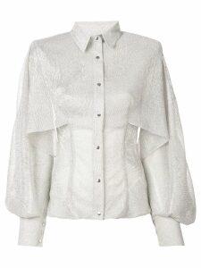 Talbot Runhof Saigon shirt - SILVER