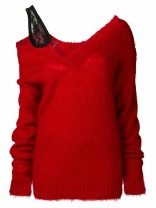 Christopher Kane v neck mohair sweater - Red