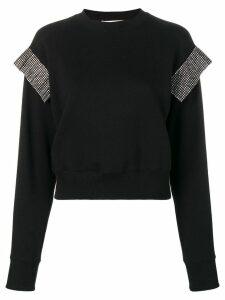 Christopher Kane crystal trim sweatshirt - Black