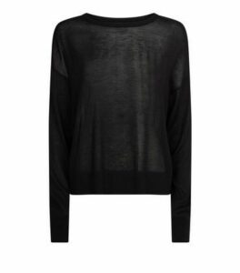 Black Fine Knit Jumper New Look