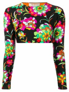 La Doublej floral print surf top - Black