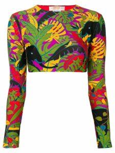 La Doublej floral print surf top - Black