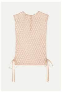 Dries Van Noten - Beaded Tulle Top - Neutral