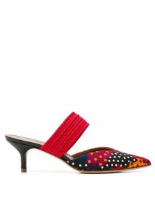 Malone Souliers Maisie polka-dot mules - Red
