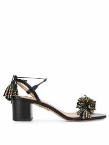 Aquazzura embellished tassel sandals - Black
