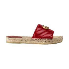 Leather espadrille sandal