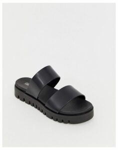 ASOS DESIGN Fletch chunky jelly flat sandals-Black