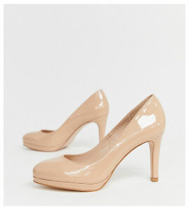Miss KG wide fit platform heels-Beige