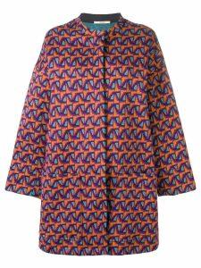 Odeeh jacquard coat - Orange