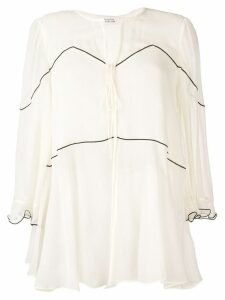 Dorothee Schumacher v-neck silk blouse - Neutrals