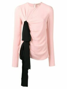 Nº21 bow detail ruched top - PINK