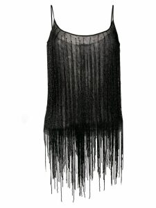 Amen beaded fringes top - Black