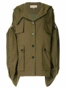Ruban Khaki Kimono Jacket - Green